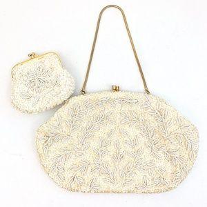 Vintage 1960s Beaded Handbag w/ Coin Purse